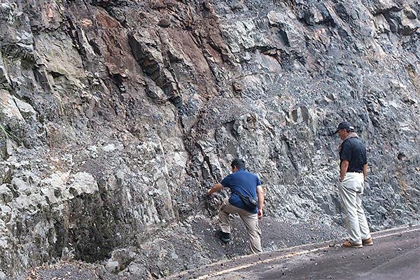 谷口の石炭層