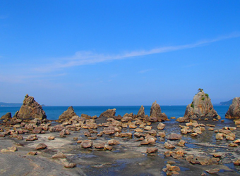 The Hashigui-iwa Rocks