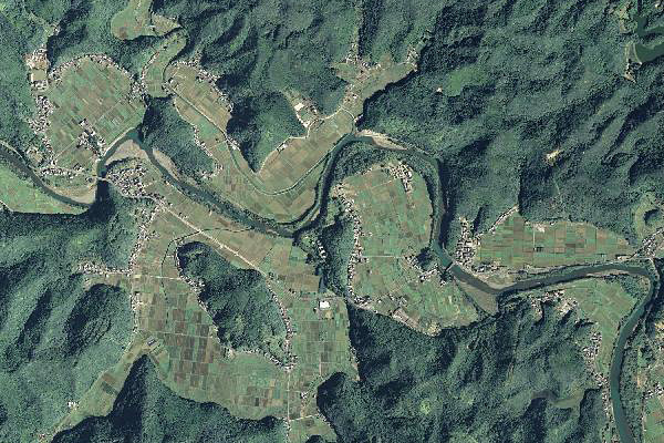 太田川的环流丘陵