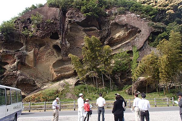 高池虫蛀岩